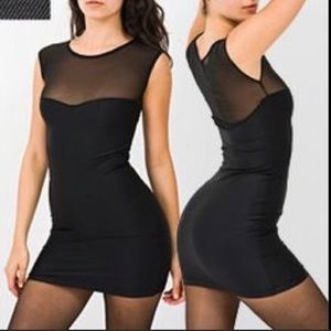 American Apparel black mesh detail bodycon
